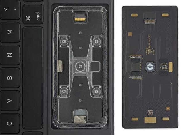 苹果 iPad Pro 妙控键盘触控板拆解:全新物理点按式设计