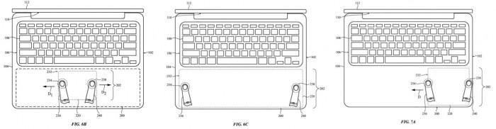 苹果新专利:整个 MacBook Pro 掌托可作为触控板使用
