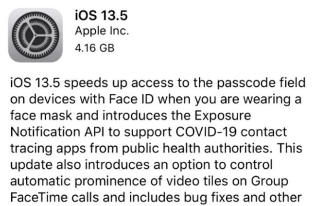 iOS 13.5 GM版已到,iOS 13.5 正式版还远吗?