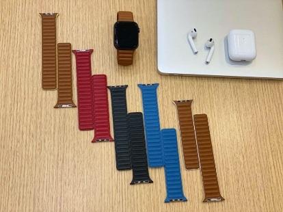 苹果 Apple Watch 新款皮质表带谍照曝光:运动感十足,更透气