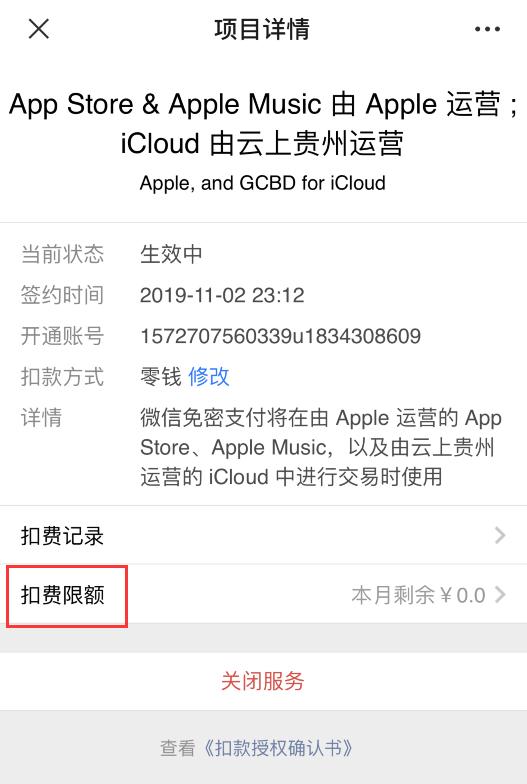 如何在 iPhone 上为微信支付设置内购限额?