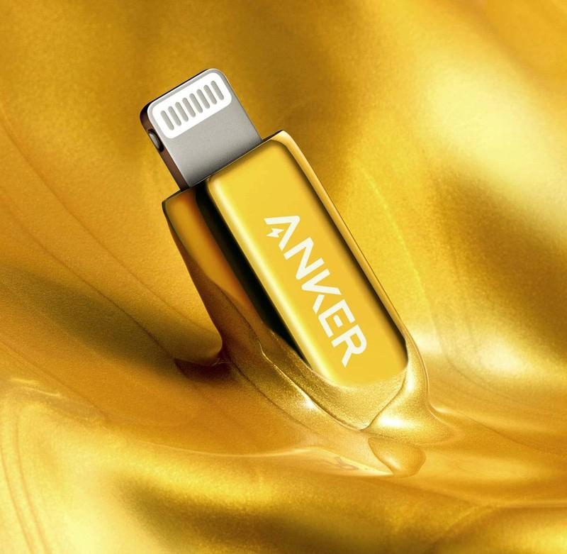 Anker 发布 24K 镀金 USB-C 至闪电线,100 美元