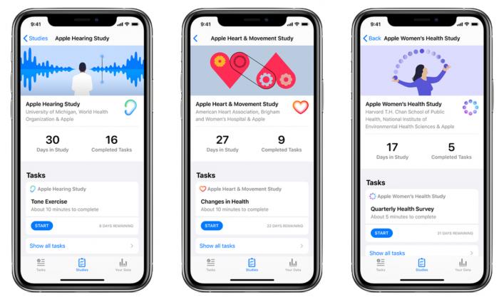 Apple Research 应用更新:引入新冠调查和听力研究噪音测试