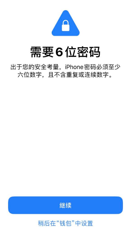 """iOS 13 使用""""钱包""""需要 6 位密码,如何设置?"""