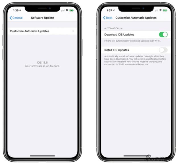 如何开启iOS 13.6 Beta 2 新增的系统自定义自动更新开关?