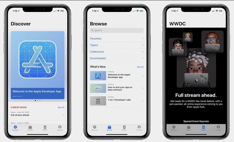 苹果重新设计开发者 App,为 WWDC 做准备