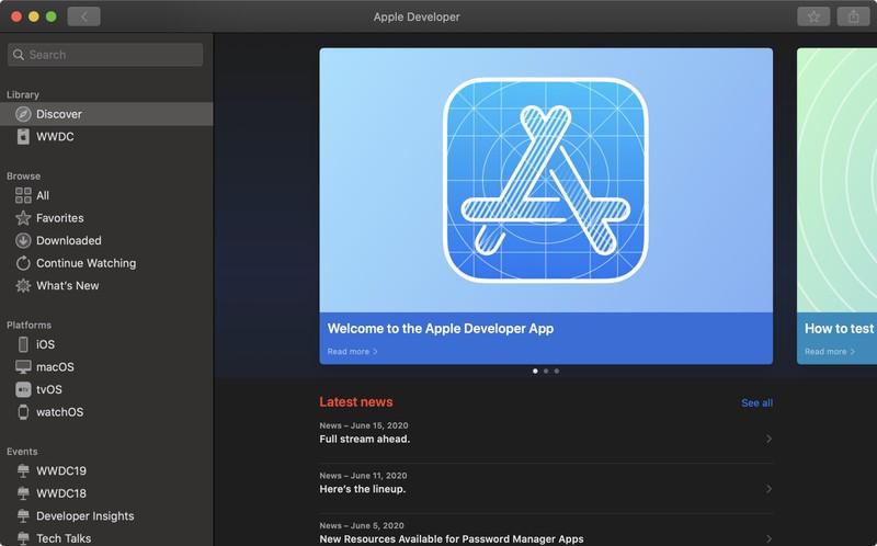 苹果上线 macOS 版 Apple Developer 应用