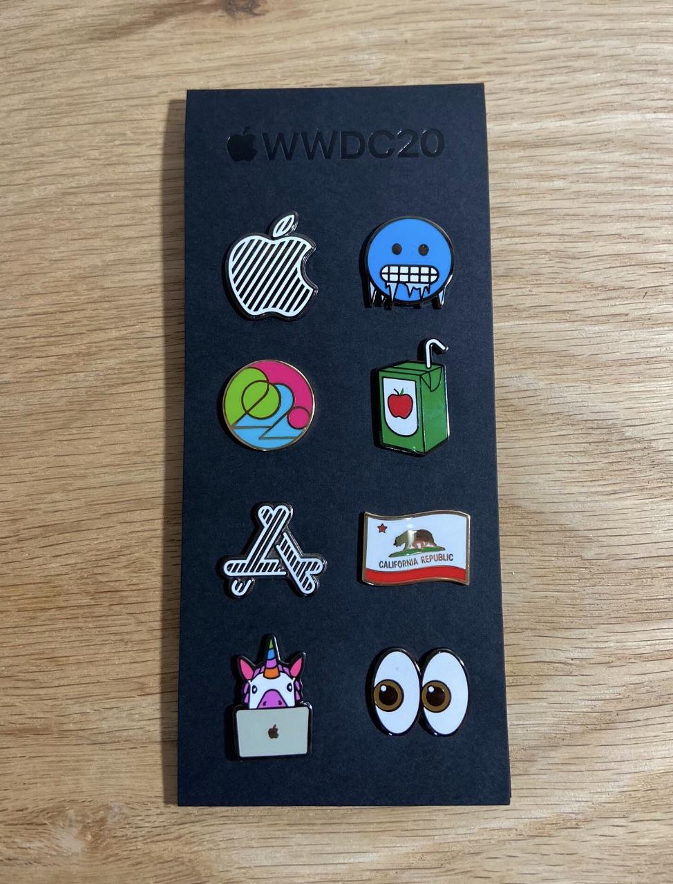 WWDC 2020 周边欣赏: 夹克与胸针