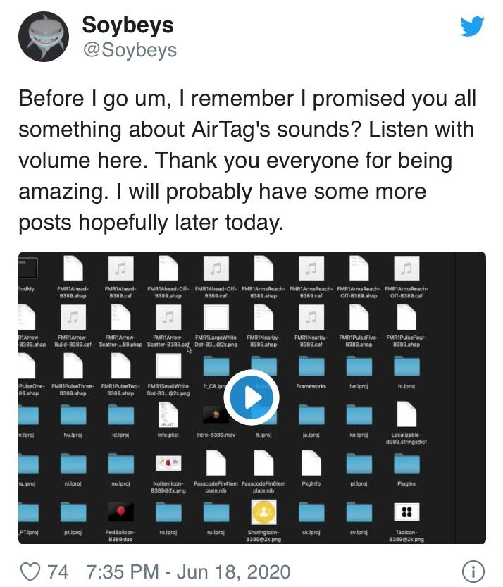 疑似苹果 AirTags 音频文件曝光,文件格式独特