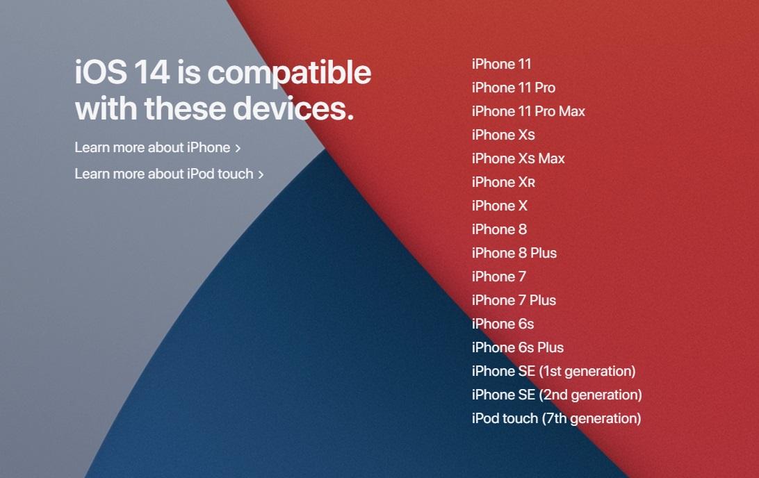 苹果 iOS 14/iPadOS 14 可升级机型汇总