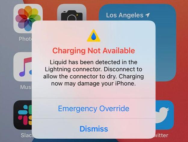 在Lighting端口进水时自动禁用充电?iOS 14做到了