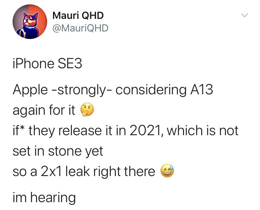 未来或将发布的 iPhone SE 2 Plus 仍将搭载 A13 处理器