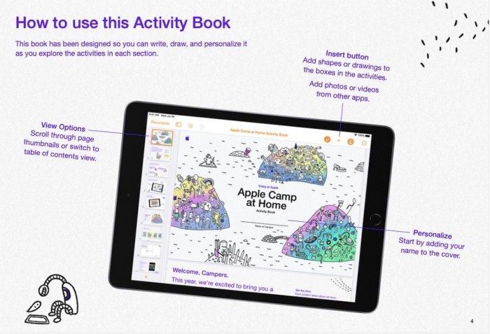 Apple 夏令营居家版开放注册,为儿童提供乐趣十足的在线课程
