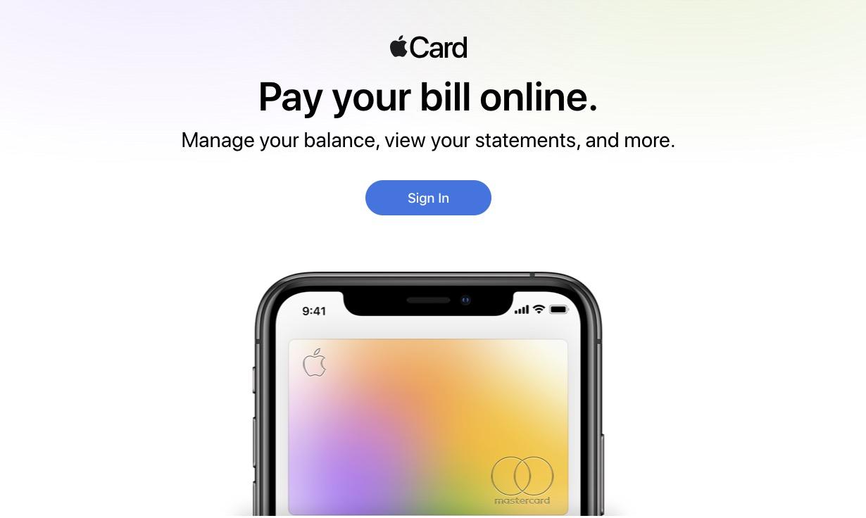 苹果上线网页版 Apple Card,方便在线还款