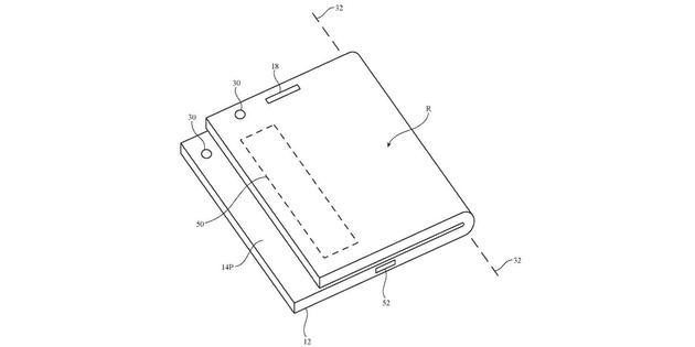 苹果获得新折叠屏 iPhone 专利:采用非对称折叠