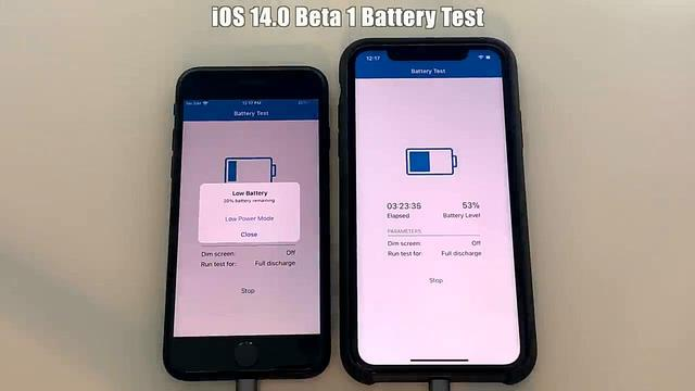 iPhone SE 与 iPhone 11 升级 iOS 14 后续航测试:电池续航有提升