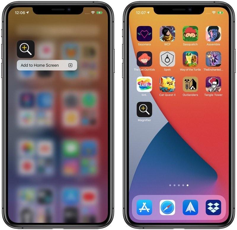 """iOS 14 """"放大器""""功能全面改进:支持添加到主屏幕"""