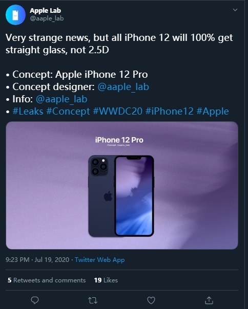 iPhone 12 最新消息:所有型号将均采用平面玻璃设计