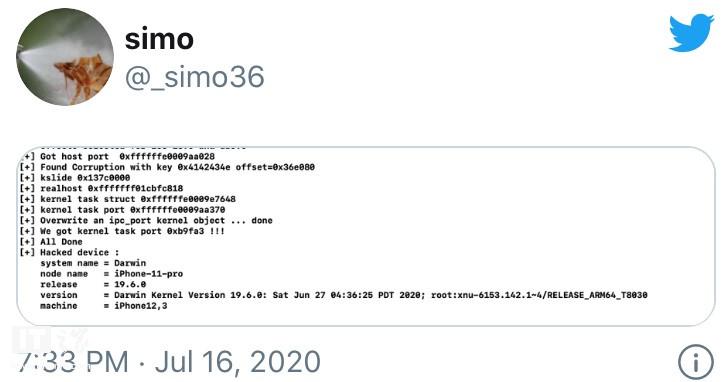新发现: tfp0 漏洞或可用于 iOS 13.6 越狱
