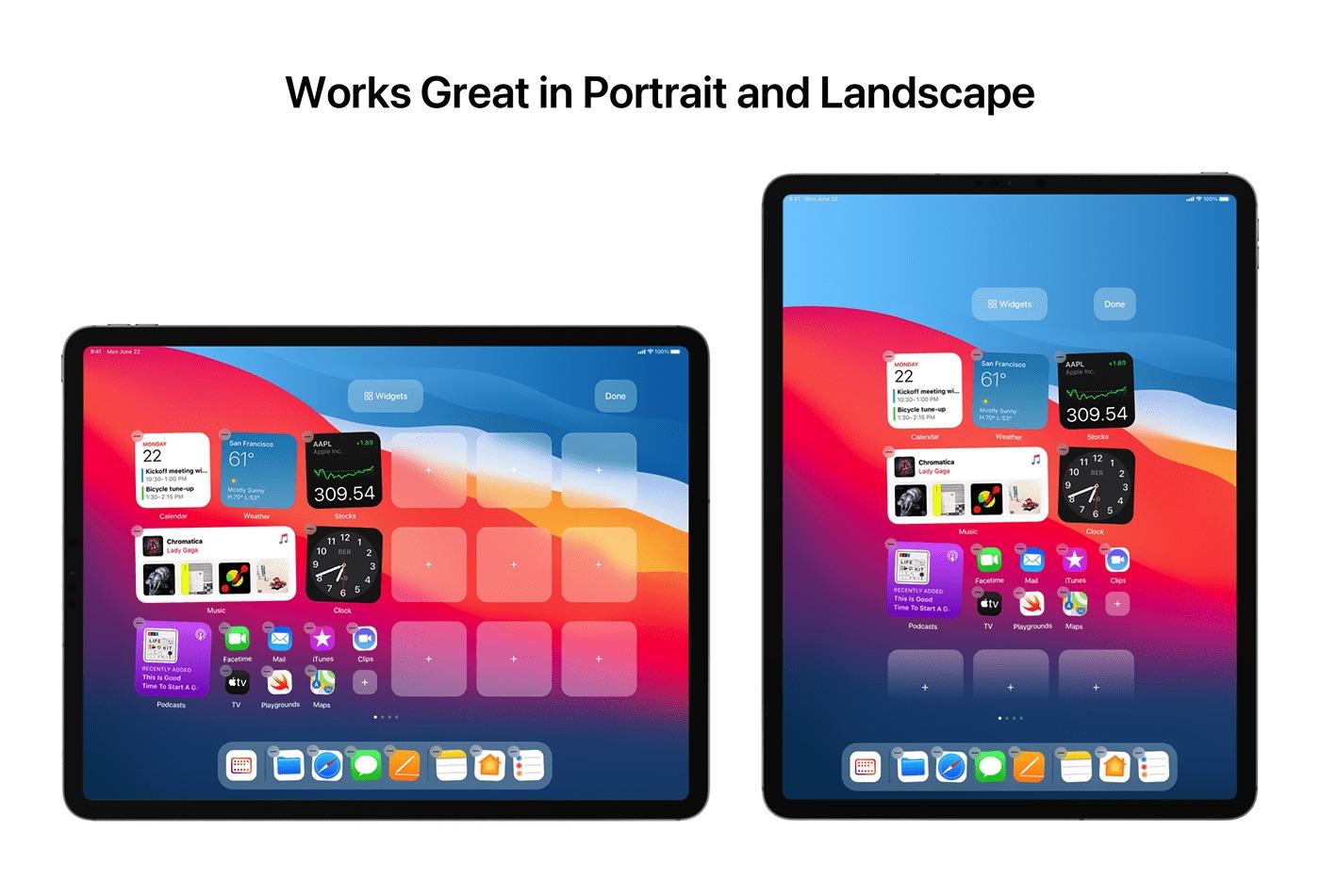 iPadOS 15 概念设计欣赏:更好的小组件体验