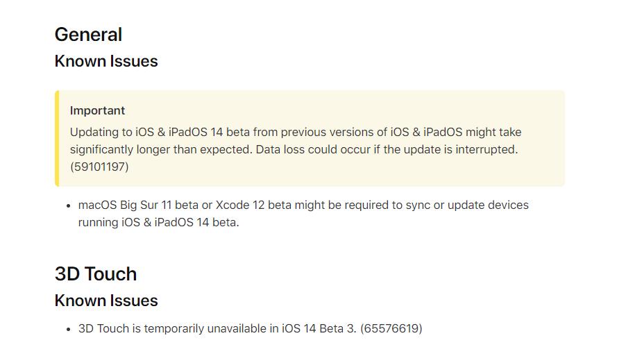 iOS 14 并未移除 3D Touch 功能,苹果官方:暂时不可用