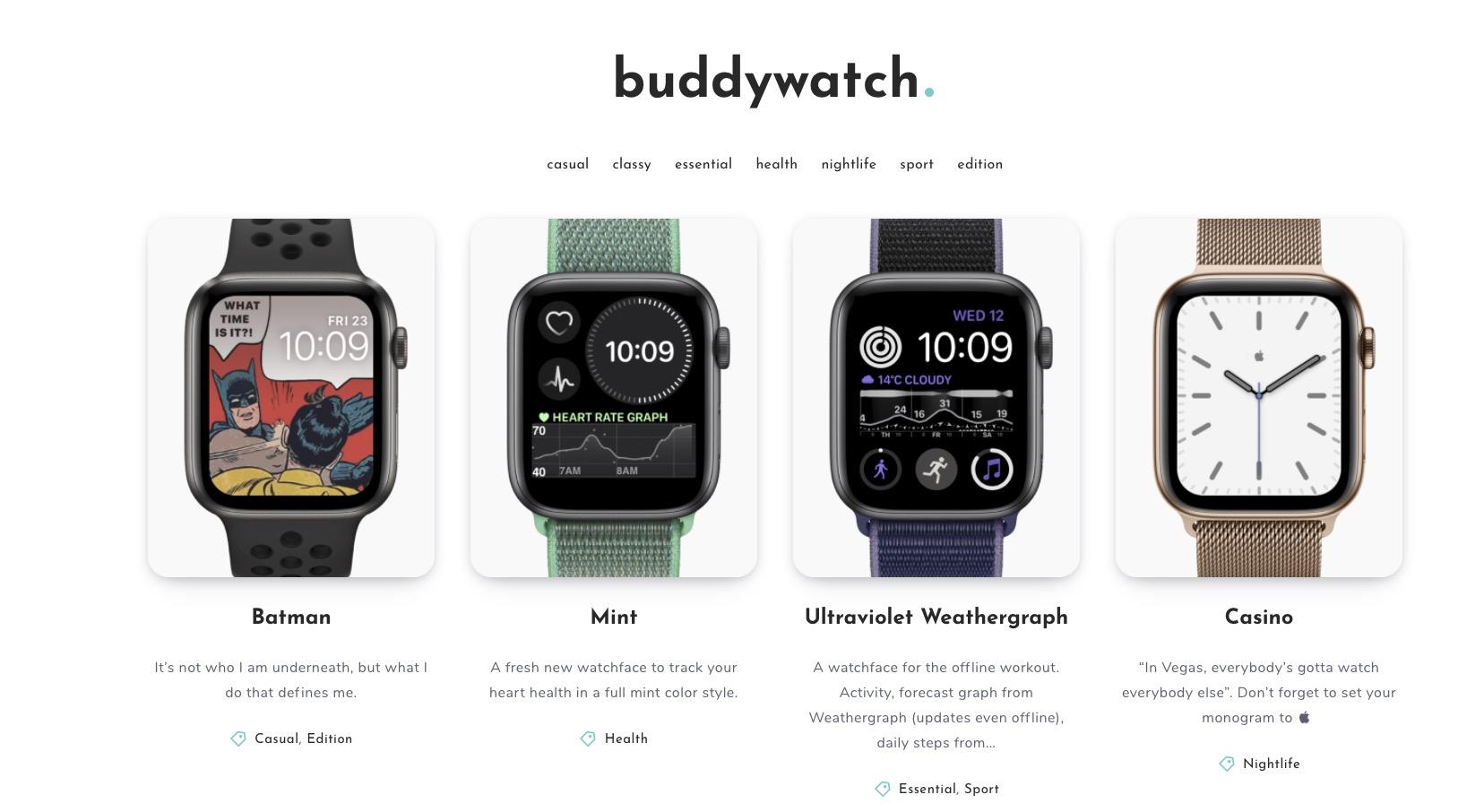 第三方 watchOS 7 表盘分享网站上线