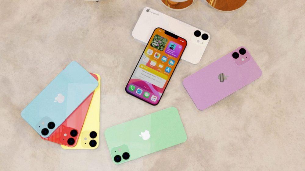 5.4 英寸 iPhone 12 概念欣赏,多种配色