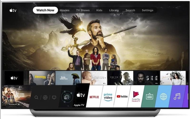 部分 2018 款 LG 电视升级后出现了 Apple TV 应用