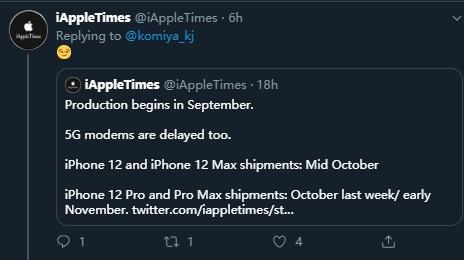 iPhone 12 Pro 因 5G 基带供货问题或将面临延期