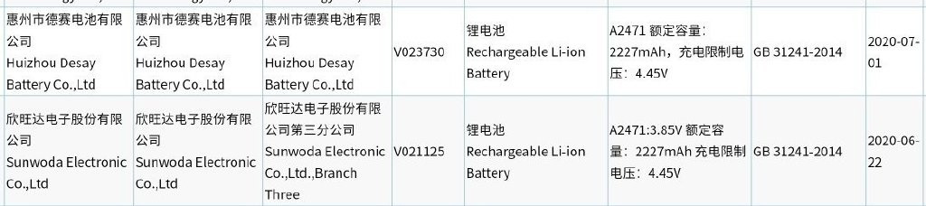 苹果 iPhone 12/Max/Pro/Pro Max 电池入网认证