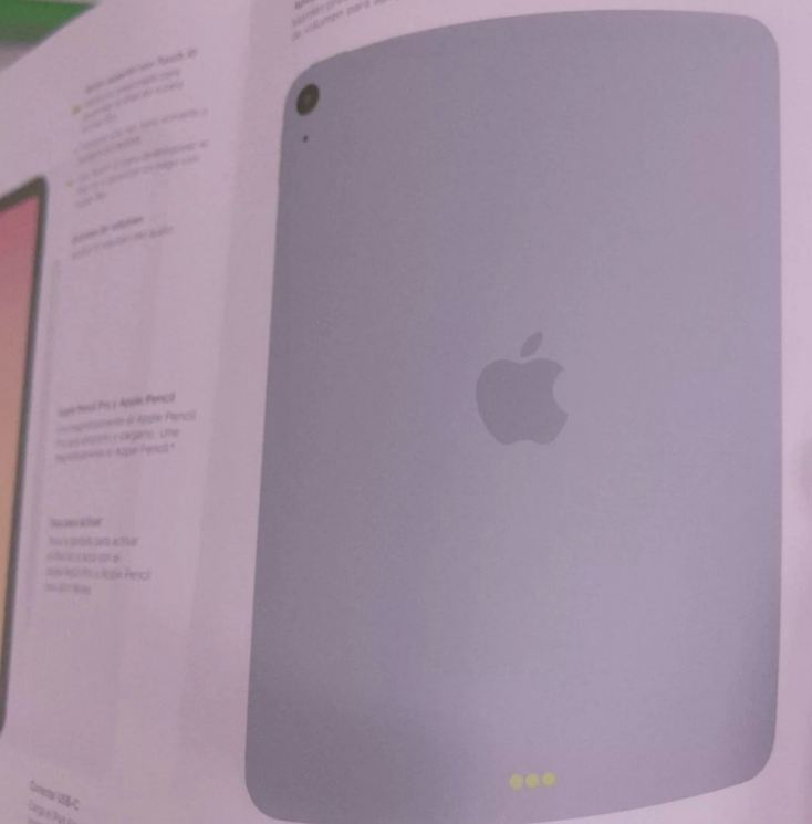 疑似新 iPad Air 说明书曝光:全面屏设计 + 电源键集成 Touch ID