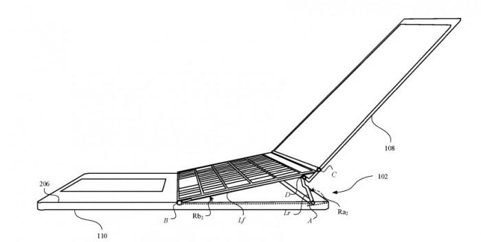 新专利显示 MacBook Pro 铰链可以动态调整键盘角度,让打字更舒适
