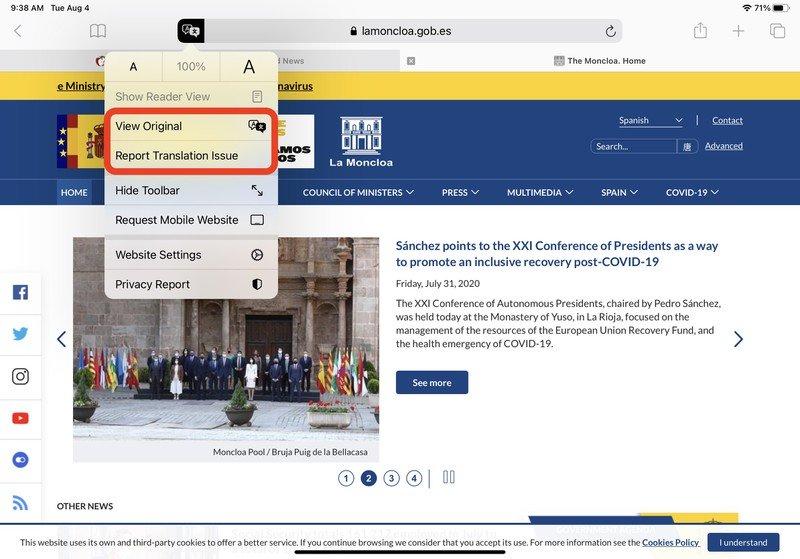 iOS 14 教程:如何在 iPhone 上的 Safari 浏览器中翻译网页?