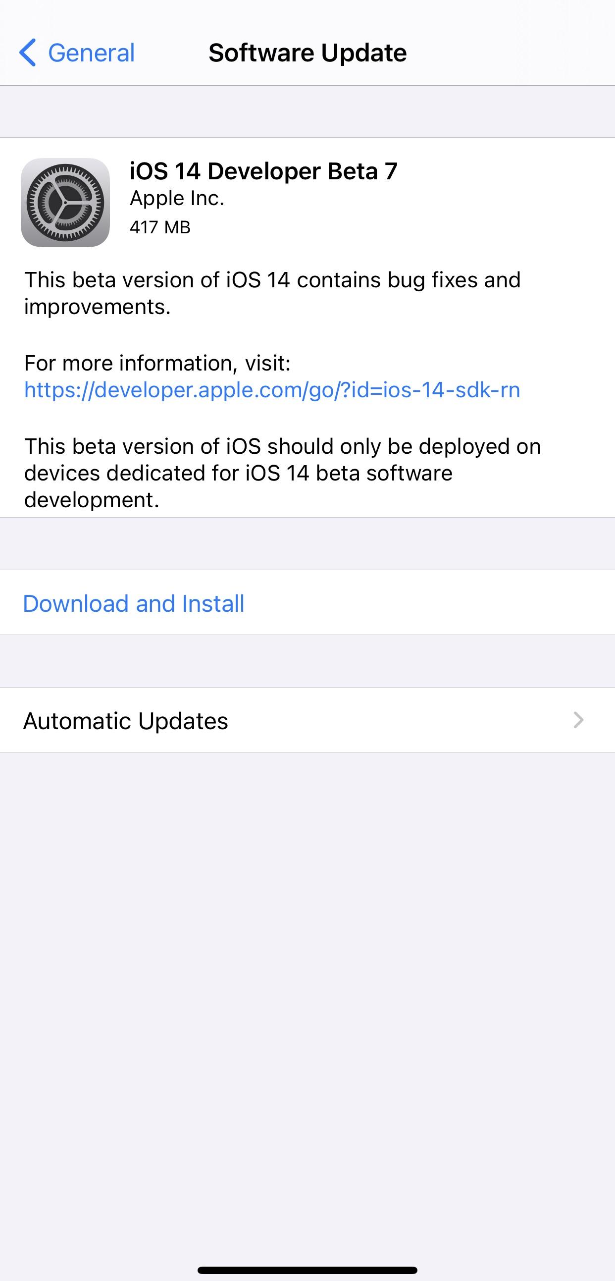 Apple 发布 iOS 14 开发者预览版 beta 7,修复 AirPods 弹窗显示错误