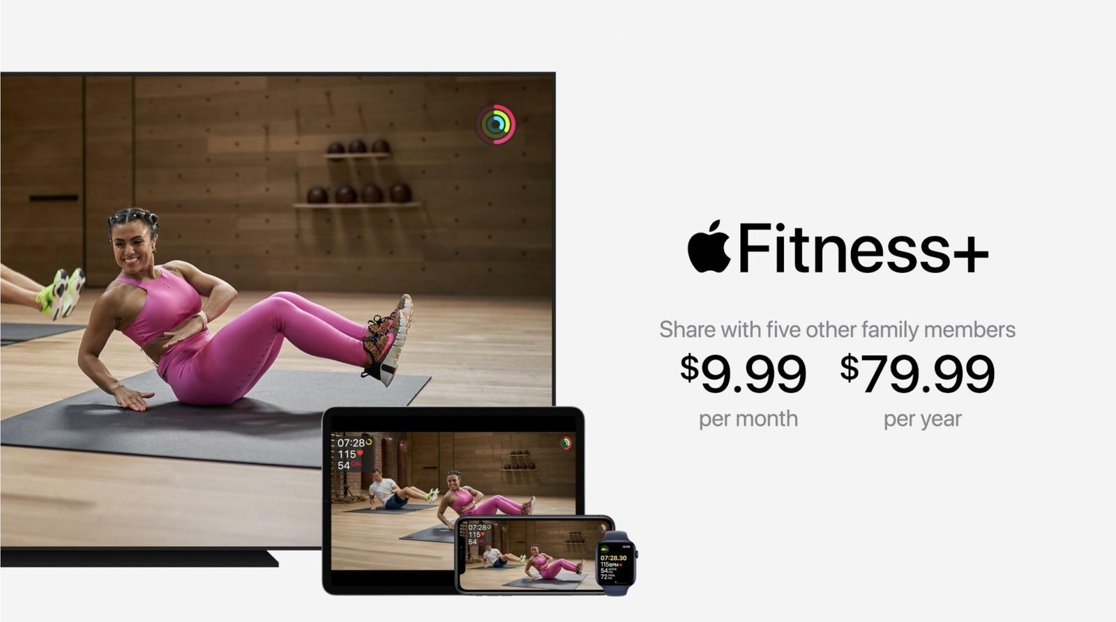 苹果推出Fitness+健身服务,购买新Apple Watch可获三个月免费试用