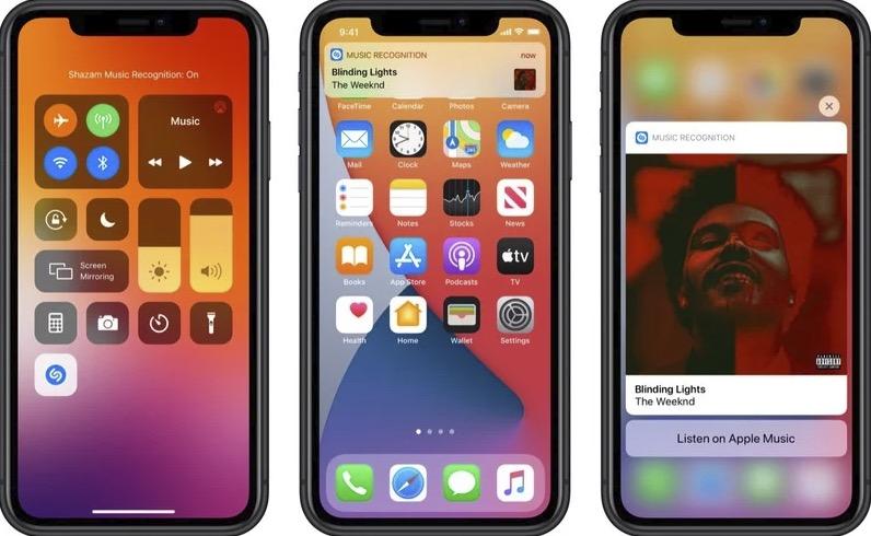 iOS 14.2 新功能:控制中心新增听歌识曲