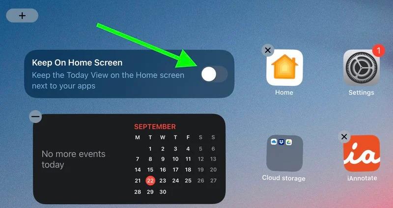 如何在iPad 的主屏幕上显示「小组件」?