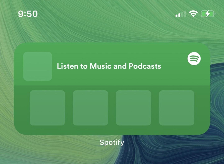 Spotify 正测试苹果 iOS 14 小组件:有中小两个尺寸