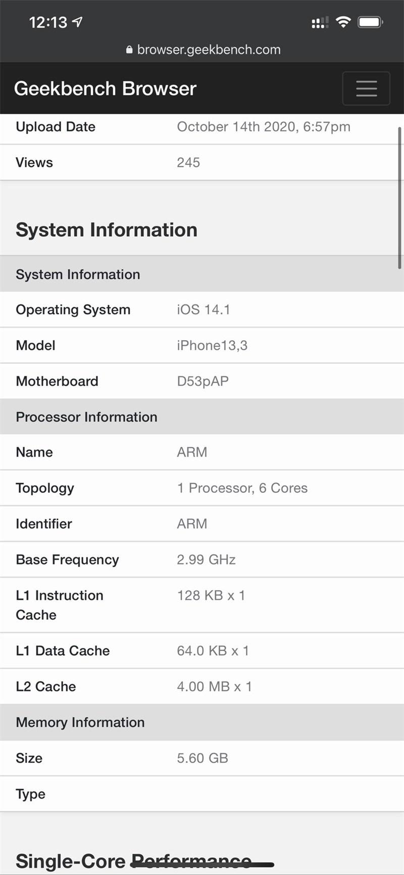 iPhone 12 Pro 配 6GB 内存,iPhone 12 和 12 mini 仍是 4GB