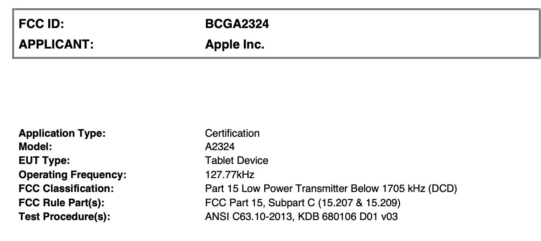 全新 iPad Air 通过 FCC 认证,或在本月 23 日正式发售