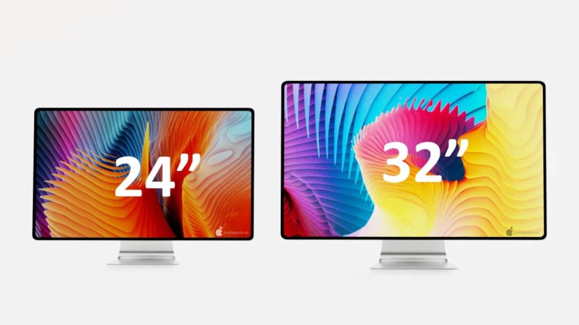 设计师制作苹果窄边框 iMac 设想图:24 和 32 英寸两款