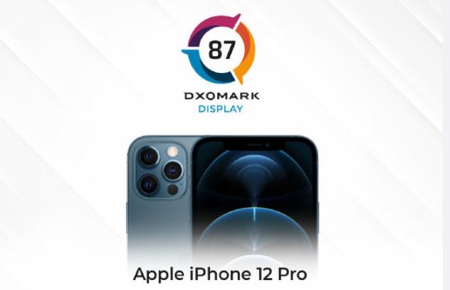 iPhone 12 Pro DXOMARK 屏幕评分 87 分