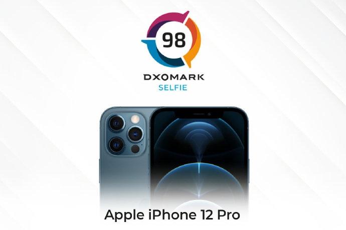 iPhone 12 Pro 前置摄像头 DxOMARK 得分 98 分,未进前五