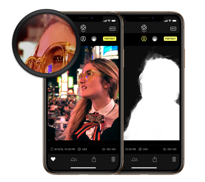 How does the iPhone's single front-facing camera record depth-of-field information to take portrait mode photos?