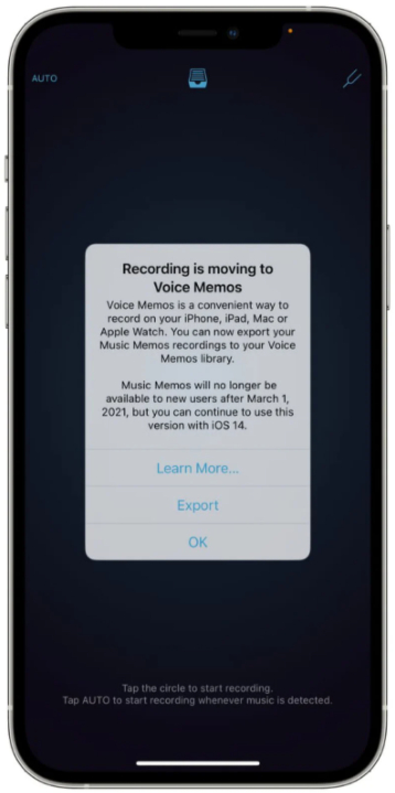 苹果公司计划停止更新和下载音乐备忘录应用