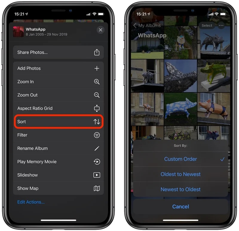 iOS 14 Tips: iPhone Photos app supports changing the order of pictures or videos