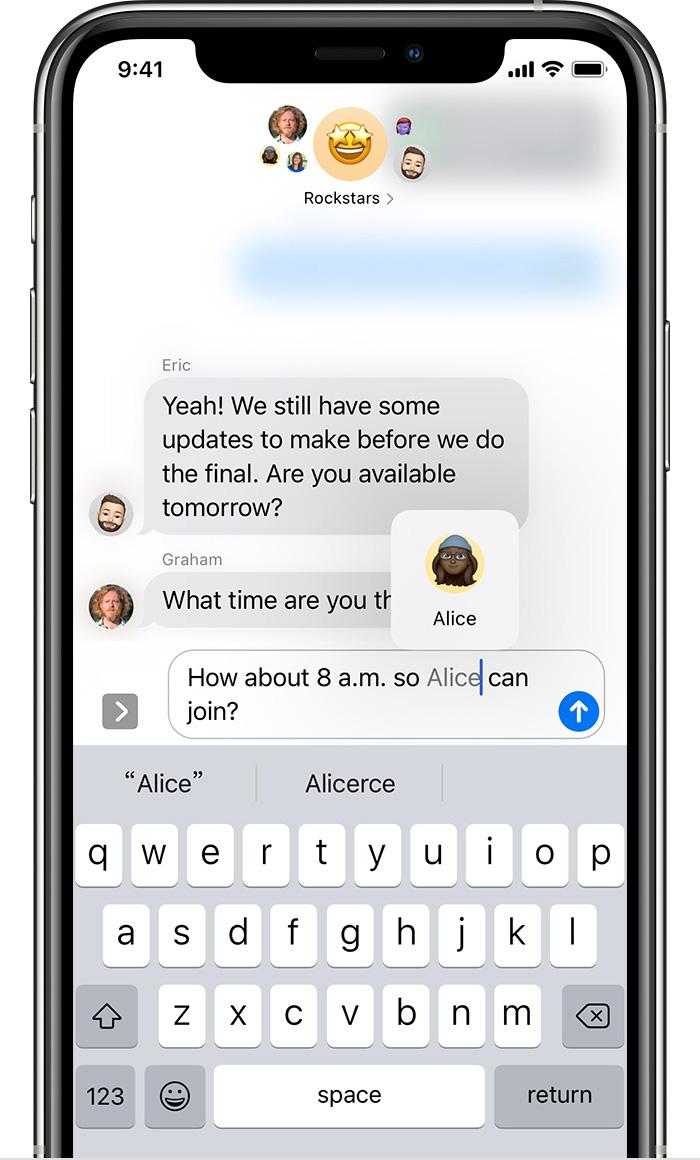 """如何在 iOS 14 信息应用中使用""""提到""""功能?"""