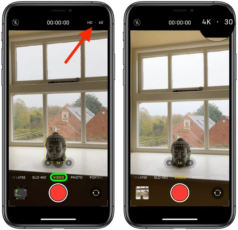 iOS 14: Video quality can be changed in the Camera app