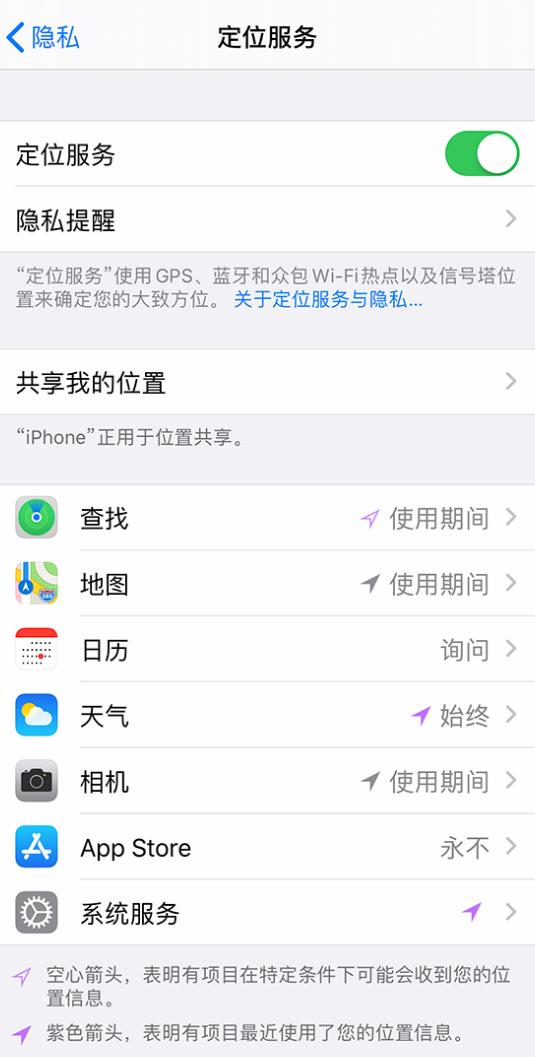 iPhone 状态栏中时间显示为蓝色图标是什么情况?
