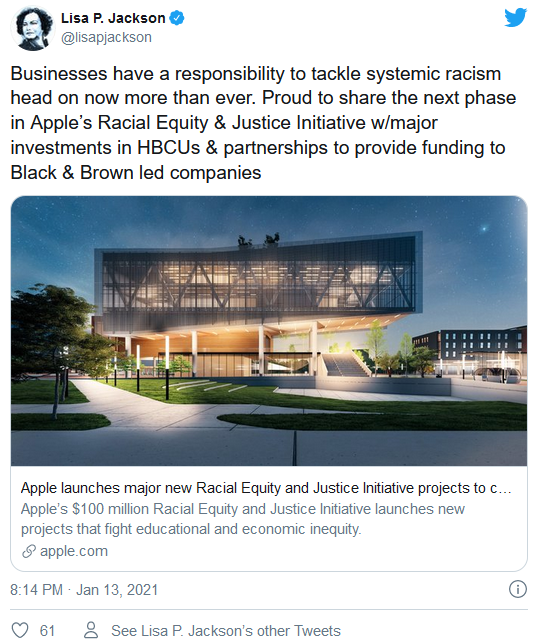苹果公司斥资 1 亿美元在全美范围内推出种族公平和正义倡议项目